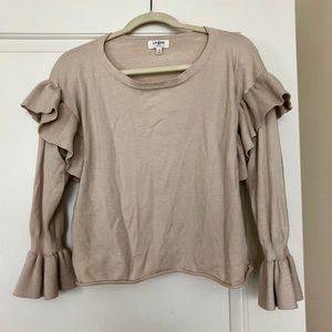 Boutique Ruffle Sleeve Sweater